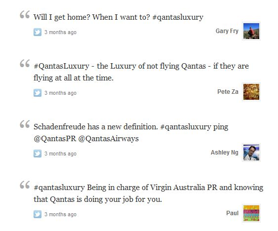 Qantas Twitter mistake