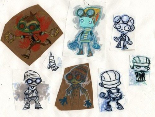 Characters from Double Fine