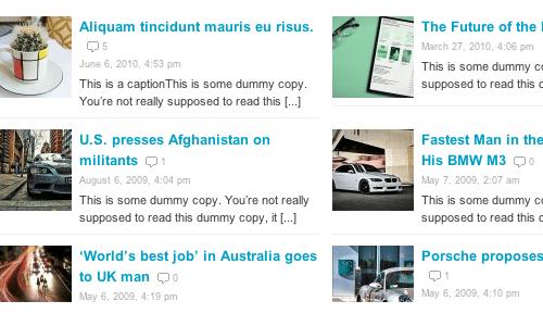 news theme homepage