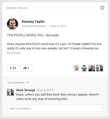 Google Plus Titles