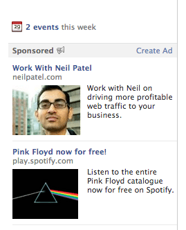Neil Patel advertising on Facebook