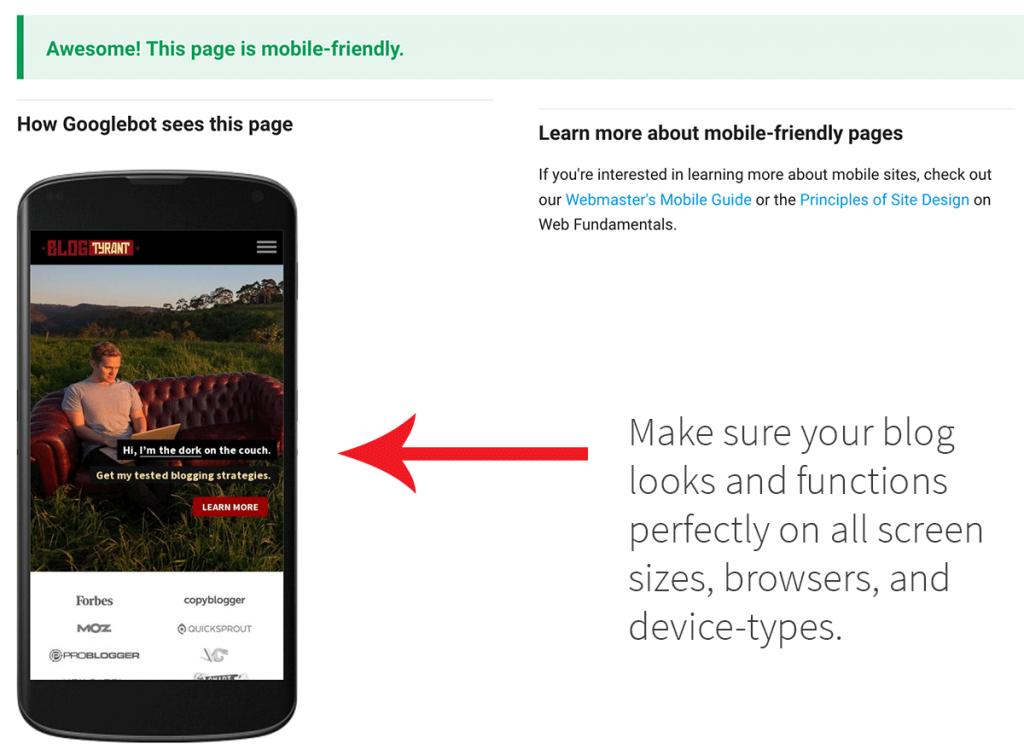 mobile responsive blog