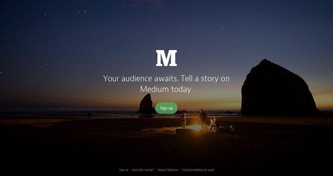 tạo blog miễn phí với medium