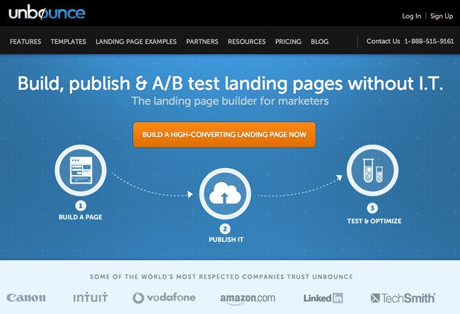 unbounce landing pages
