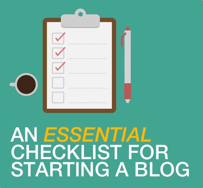 start a blog checklist