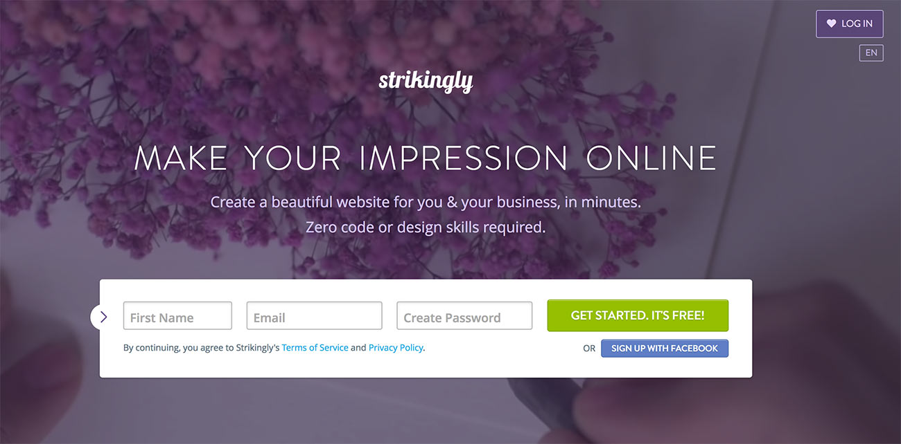 A complete list of blog sites free accounts get a yoursitenamerikingly address show a powered by strikingly badge at the bottom let you sell one product fandeluxe Images