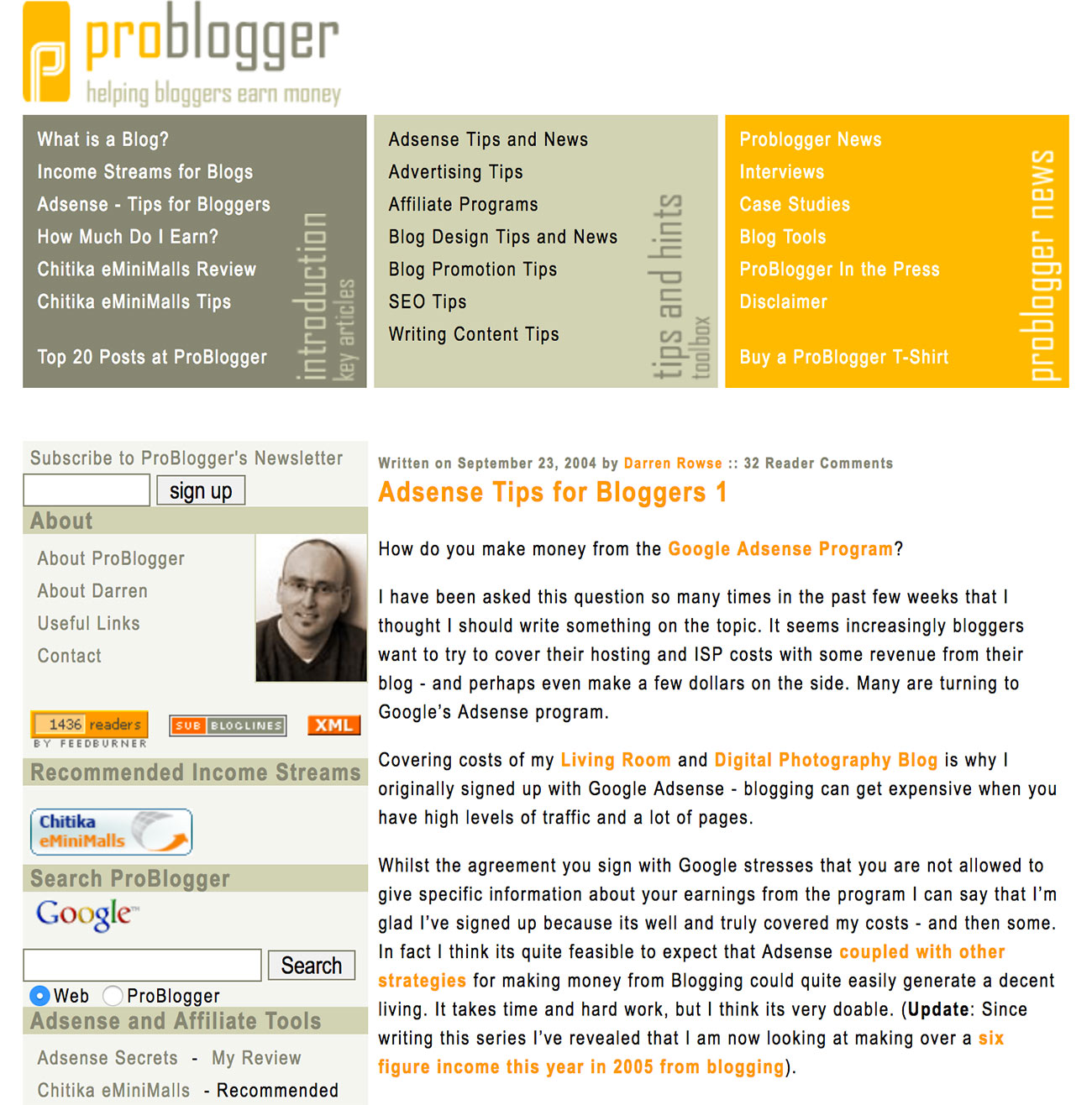 make money online problogger