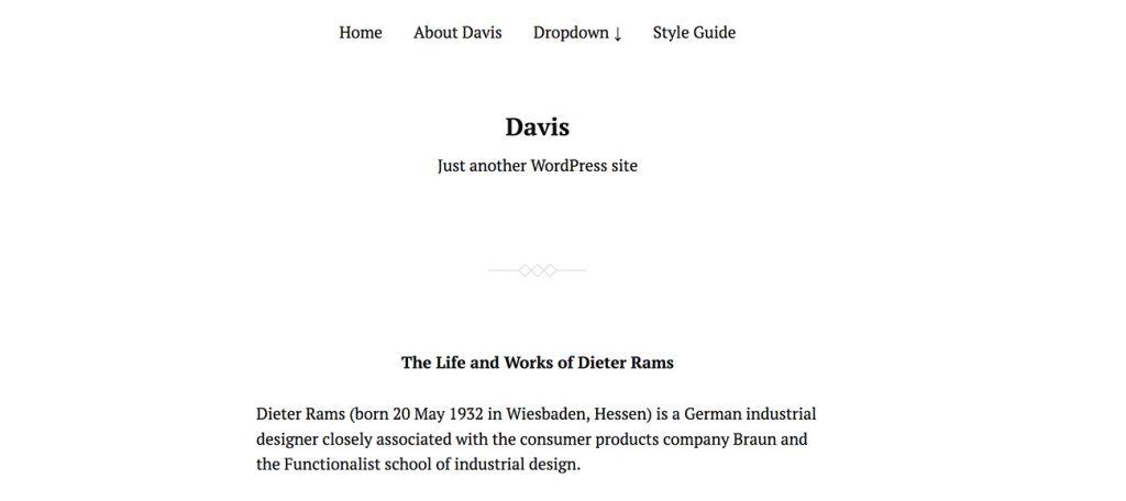 davis theme