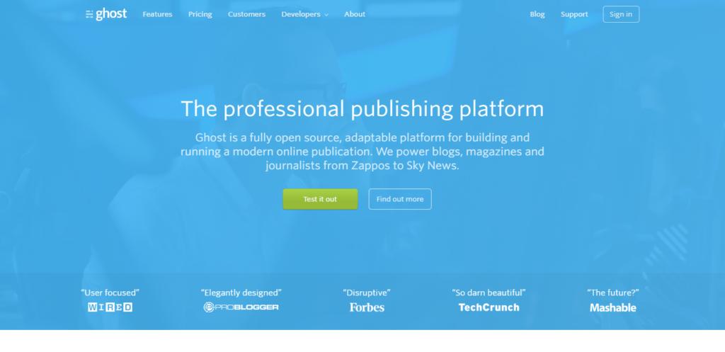 Ghost self-hosted Blogging Platform