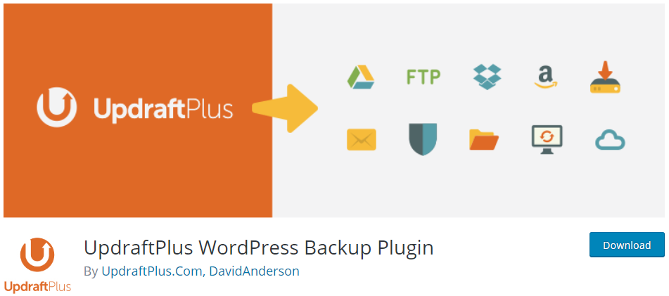 Plugin di backup di UpdraftPlus