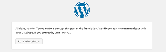 Run Installation - Install WordPress using FTP