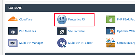 Install WordPress with Fantastico