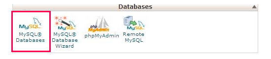 Click on MYSQL icon - Install WordPress using FTP