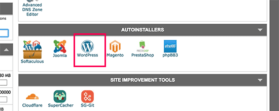 Click on WordPress - How to install WordPress on Siteground