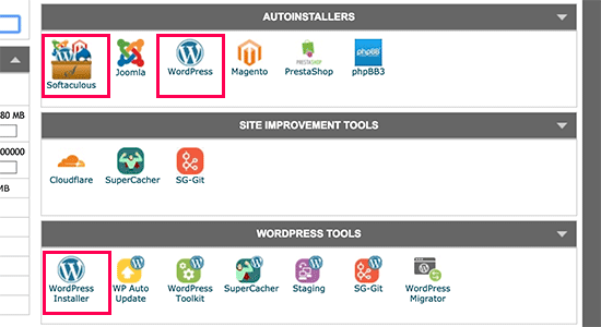 Click on WordPress - Install WordPress with Softaculous