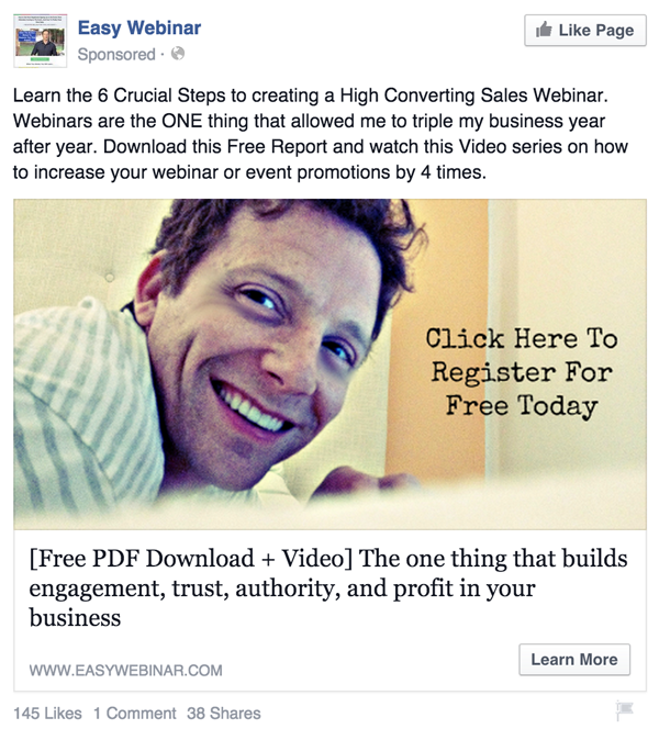 facebook ads to build a list
