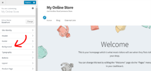 Make changes to your online store using WordPress Theme Customizer