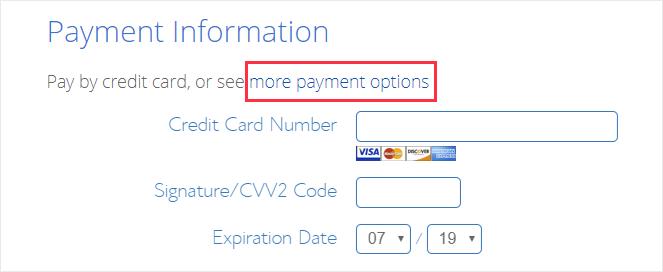 Información del pago