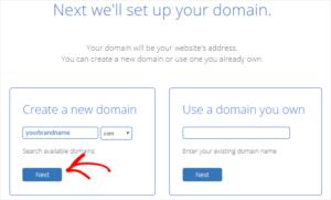 Register domain name for free