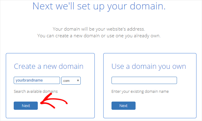 Register domain name for free