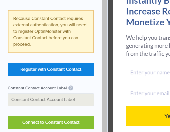 register with constant contact - how to create an email newsletter