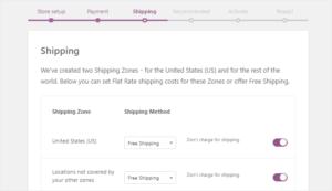 Setting up shipping method