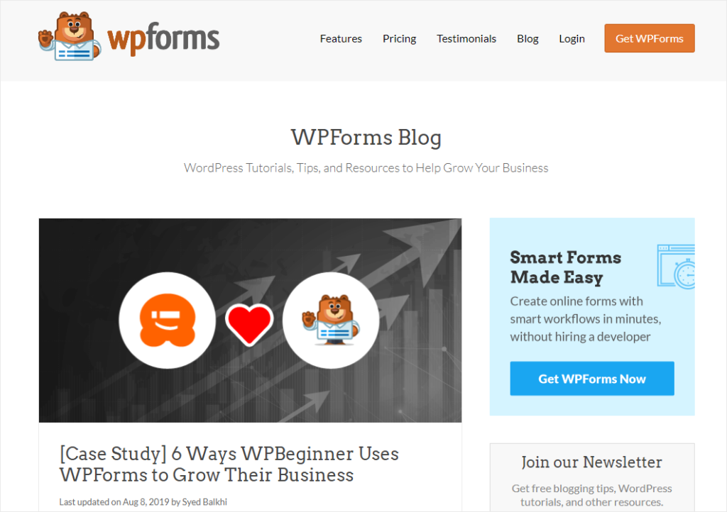 case study blog post idea from WPForms