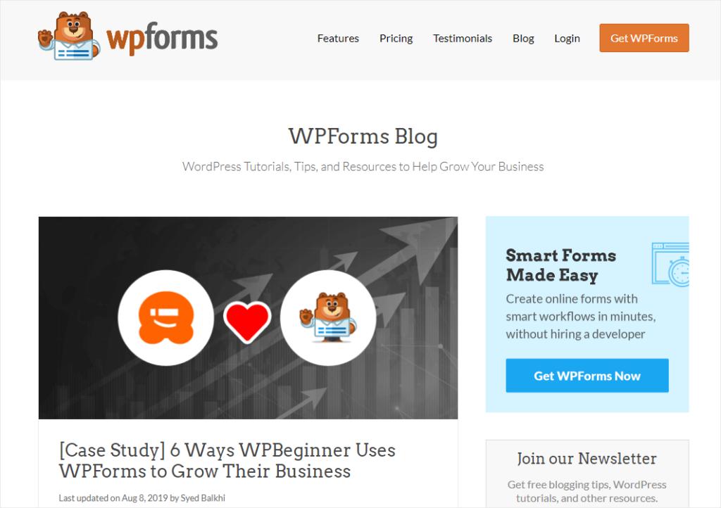 case study blog post idea from WPForms