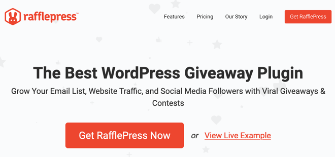 Plugin Giveaway di WordPress RafflePress