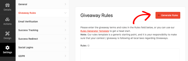 RafflePress Giveaway Rules