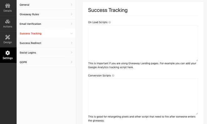 RafflePress Success Tracking