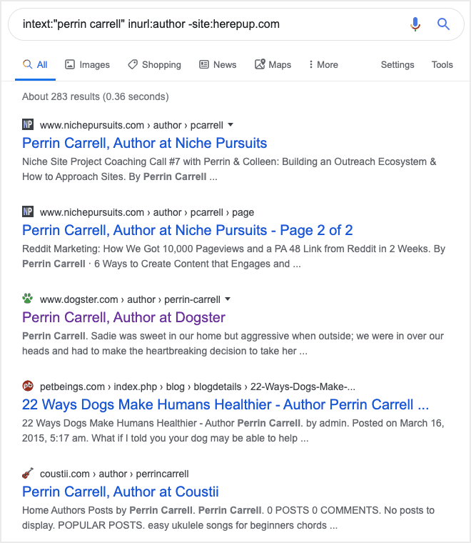 google advanced search string