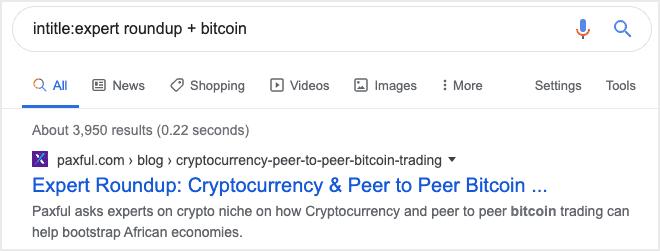 bitcoin expert roundup example