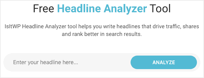 IsItWP Headline Analyzer Tool
