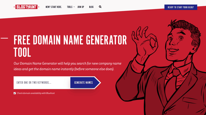 blog tyrant name generator - how to choose a domain name for your blog