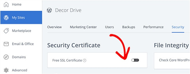 bluehost enable free ssl certificate