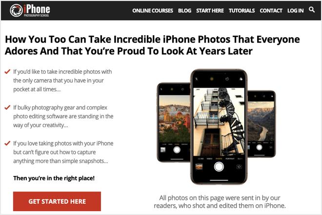 iPhone photography school