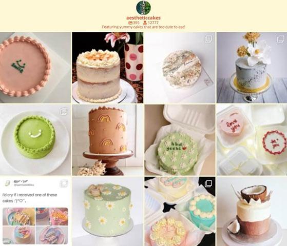 instagram feed on food blog
