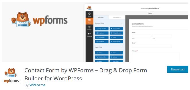 use wpforms para crear un formulario de contacto