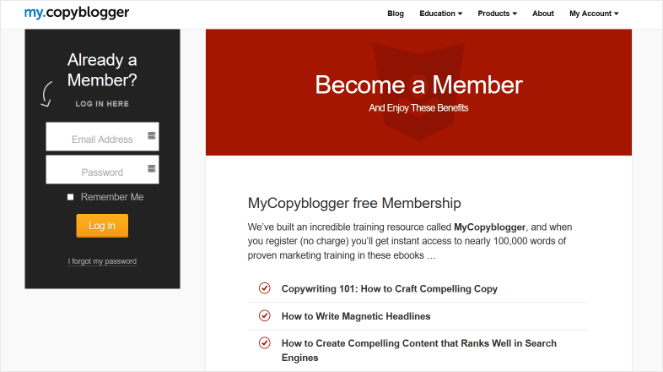 copyblogger-membership-site-idea