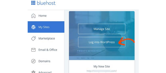 bluehost-wordpress-login