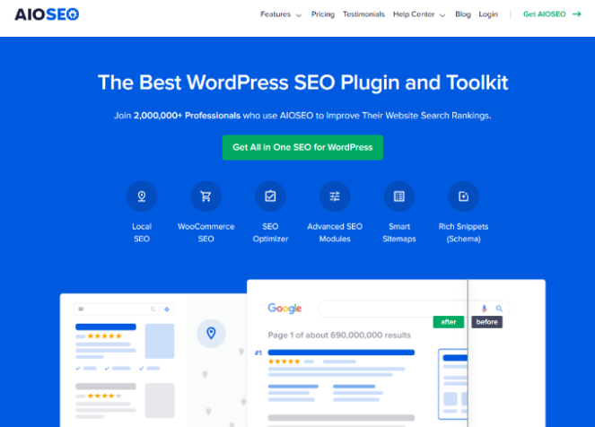use aioseo to optimize your landing page for seo