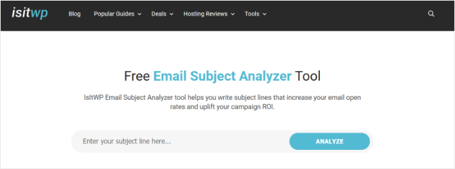 isitwp-email-subject-tool