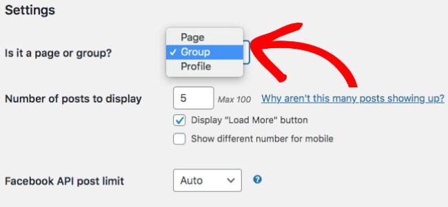 Paramètres de flux Facebook personnalisés