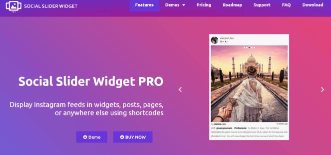 Widget Social Slider Pro