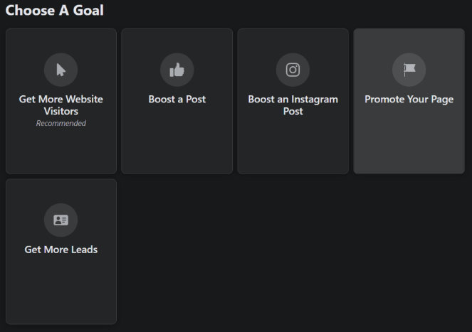 instagram ad goals