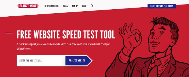 strumento di test della velocità del sito web