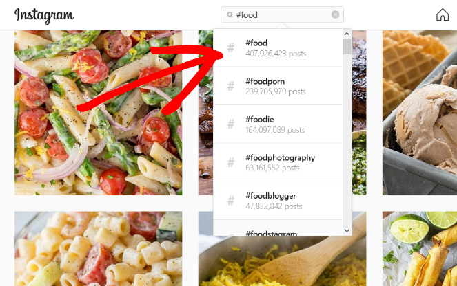 search hashtags on instagram