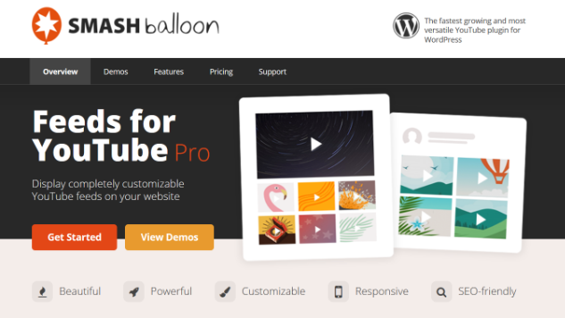 smash balloon youtube plugin