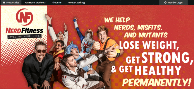 nerd fitness - fitness blog ideas